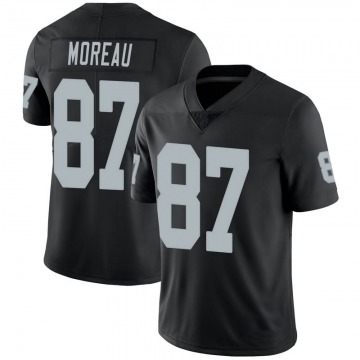 Youth Nike Las Vegas Raiders Foster Moreau Black 100th Vapor Jersey - Limited