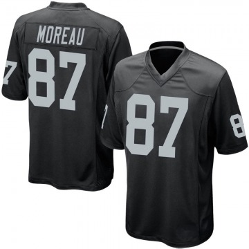 Youth Nike Las Vegas Raiders Foster Moreau Black Team Color Jersey - Game