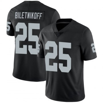 Youth Nike Las Vegas Raiders Fred Biletnikoff Black 100th Vapor Jersey - Limited