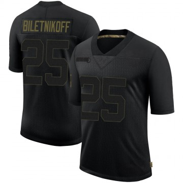 Youth Nike Las Vegas Raiders Fred Biletnikoff Black 2020 Salute To Service Jersey - Limited