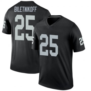 Youth Nike Las Vegas Raiders Fred Biletnikoff Black Jersey - Legend
