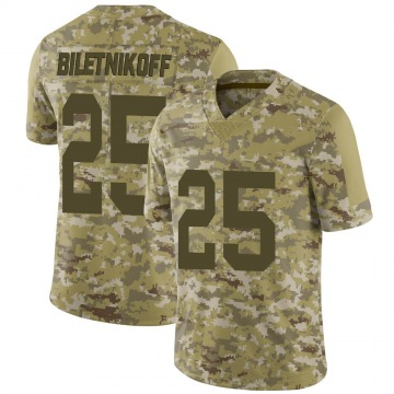Youth Nike Las Vegas Raiders Fred Biletnikoff Camo 2018 Salute to Service Jersey - Limited