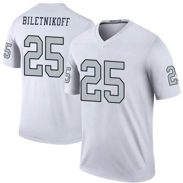 Youth Nike Las Vegas Raiders Fred Biletnikoff White Color Rush Jersey - Legend