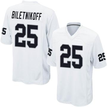 Youth Nike Las Vegas Raiders Fred Biletnikoff White Jersey - Game