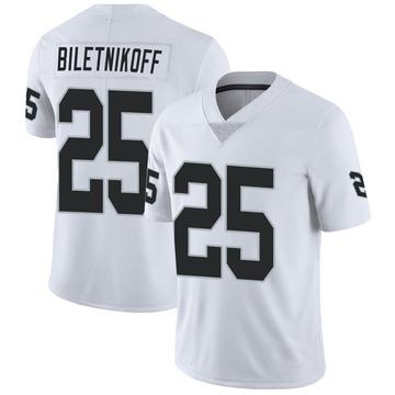 Youth Nike Las Vegas Raiders Fred Biletnikoff White Vapor Untouchable Jersey - Limited