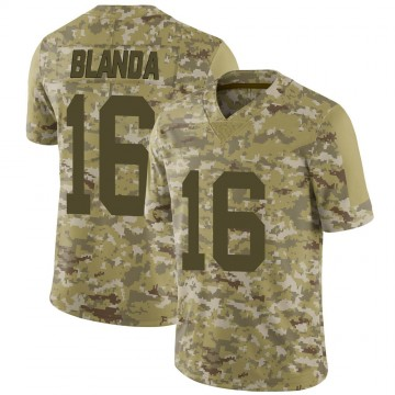 Youth Nike Las Vegas Raiders George Blanda Camo 2018 Salute to Service Jersey - Limited