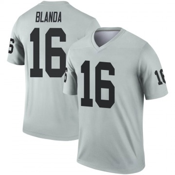 Youth Nike Las Vegas Raiders George Blanda Inverted Silver Jersey - Legend