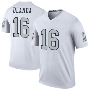 Youth Nike Las Vegas Raiders George Blanda White Color Rush Jersey - Legend