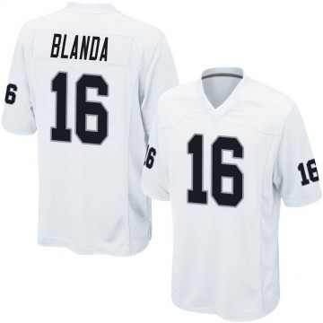 Youth Nike Las Vegas Raiders George Blanda White Jersey - Game
