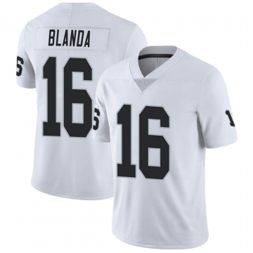 Youth Nike Las Vegas Raiders George Blanda White Vapor Untouchable Jersey - Limited