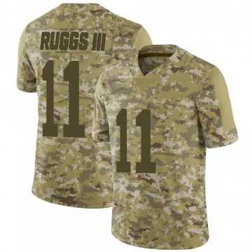 Youth Nike Las Vegas Raiders Henry Ruggs III Camo 2018 Salute to Service Jersey - Limited