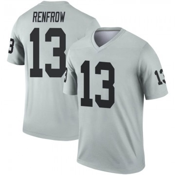 Youth Nike Las Vegas Raiders Hunter Renfrow Inverted Silver Jersey - Legend