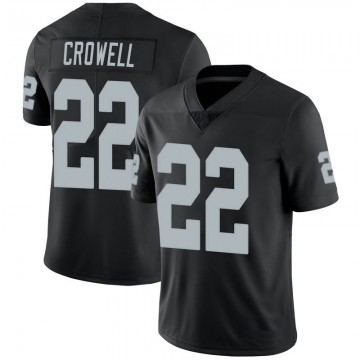 Youth Nike Las Vegas Raiders Isaiah Crowell Black 100th Vapor Jersey - Limited