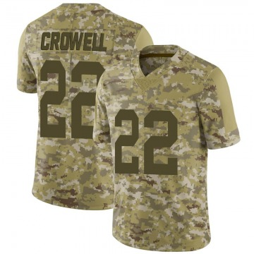 Youth Nike Las Vegas Raiders Isaiah Crowell Camo 2018 Salute to Service Jersey - Limited