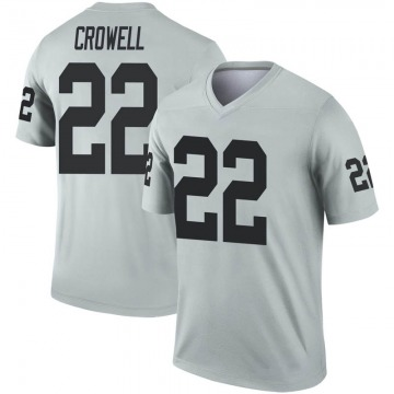 Youth Nike Las Vegas Raiders Isaiah Crowell Inverted Silver Jersey - Legend