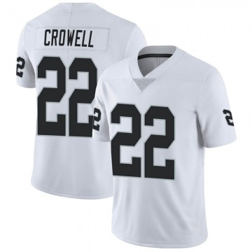 Youth Nike Las Vegas Raiders Isaiah Crowell White Vapor Untouchable Jersey - Limited