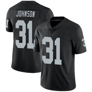 Youth Nike Las Vegas Raiders Isaiah Johnson Black 100th Vapor Jersey - Limited