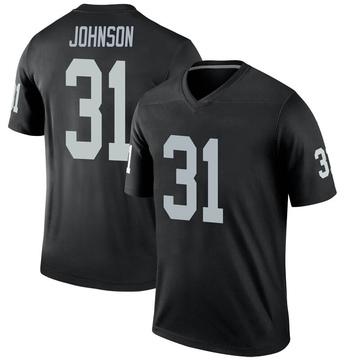Youth Nike Las Vegas Raiders Isaiah Johnson Black Jersey - Legend