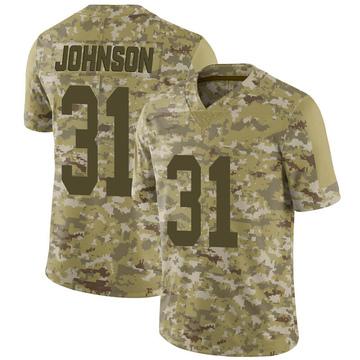 Youth Nike Las Vegas Raiders Isaiah Johnson Camo 2018 Salute to Service Jersey - Limited
