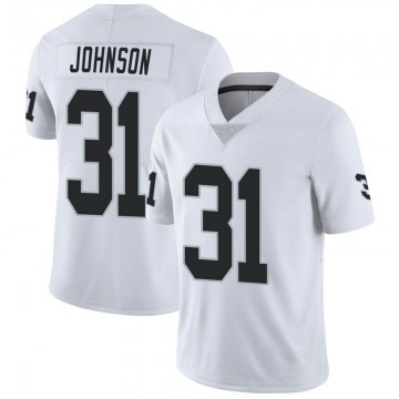 Youth Nike Las Vegas Raiders Isaiah Johnson White Vapor Untouchable Jersey - Limited