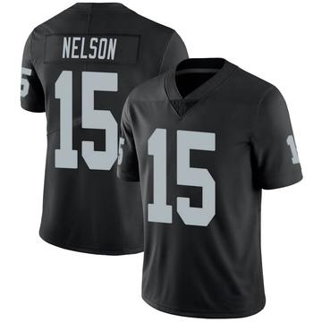 Youth Nike Las Vegas Raiders J.J. Nelson Black 100th Vapor Jersey - Limited