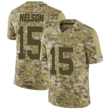 Youth Nike Las Vegas Raiders J.J. Nelson Camo 2018 Salute to Service Jersey - Limited