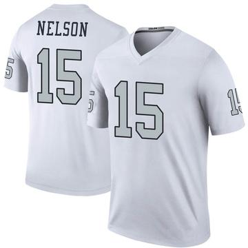 Youth Nike Las Vegas Raiders J.J. Nelson White Color Rush Jersey - Legend