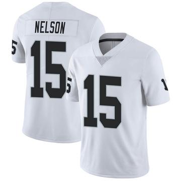 Youth Nike Las Vegas Raiders J.J. Nelson White Vapor Untouchable Jersey - Limited