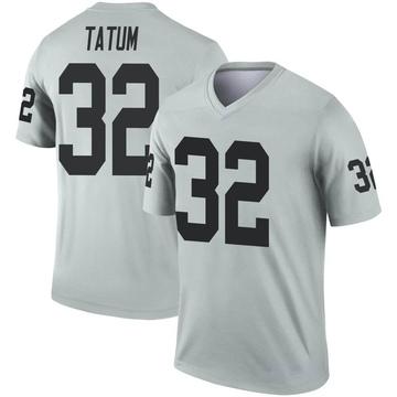 Youth Nike Las Vegas Raiders Jack Tatum Inverted Silver Jersey - Legend