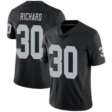 Youth Nike Las Vegas Raiders Jalen Richard Black 100th Vapor Jersey - Limited