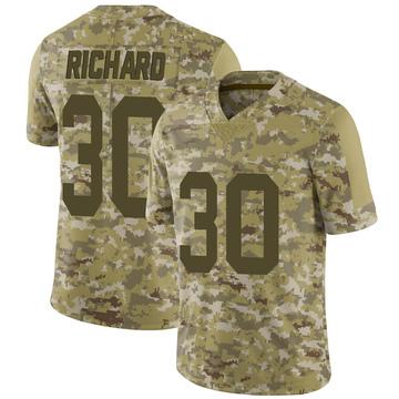 Youth Nike Las Vegas Raiders Jalen Richard Camo 2018 Salute to Service Jersey - Limited