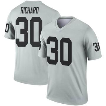 Youth Nike Las Vegas Raiders Jalen Richard Inverted Silver Jersey - Legend