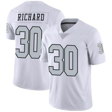 Youth Nike Las Vegas Raiders Jalen Richard White Color Rush Jersey - Limited