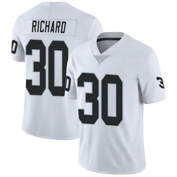 Youth Nike Las Vegas Raiders Jalen Richard White Vapor Untouchable Jersey - Limited