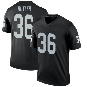 Youth Nike Las Vegas Raiders James Butler Black Jersey - Legend