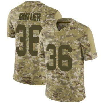 Youth Nike Las Vegas Raiders James Butler Camo 2018 Salute to Service Jersey - Limited