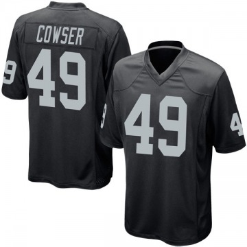 Youth Nike Las Vegas Raiders James Cowser Black Team Color Jersey - Game