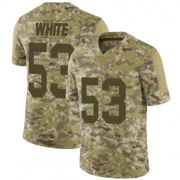 Youth Nike Las Vegas Raiders Javin White White Camo 2018 Salute to Service Jersey - Limited