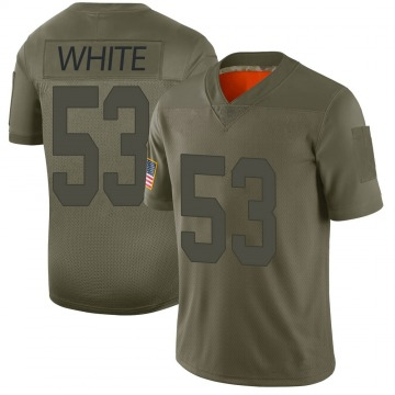 Youth Nike Las Vegas Raiders Javin White White Camo 2019 Salute to Service Jersey - Limited