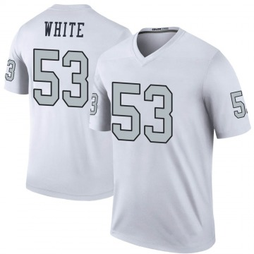 Youth Nike Las Vegas Raiders Javin White White Color Rush Jersey - Legend