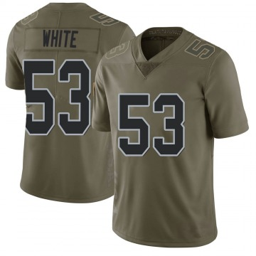 Youth Nike Las Vegas Raiders Javin White White Green 2017 Salute to Service Jersey - Limited