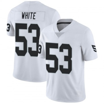 Youth Nike Las Vegas Raiders Javin White White Vapor Untouchable Jersey - Limited