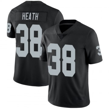 Youth Nike Las Vegas Raiders Jeff Heath Black 100th Vapor Jersey - Limited