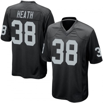 Youth Nike Las Vegas Raiders Jeff Heath Black Team Color Jersey - Game