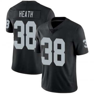 Youth Nike Las Vegas Raiders Jeff Heath Black Team Color Vapor Untouchable Jersey - Limited