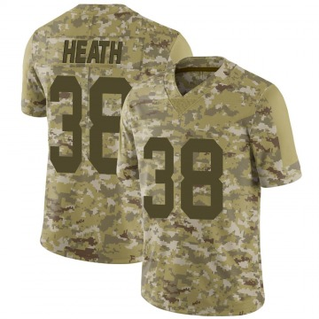 Youth Nike Las Vegas Raiders Jeff Heath Camo 2018 Salute to Service Jersey - Limited