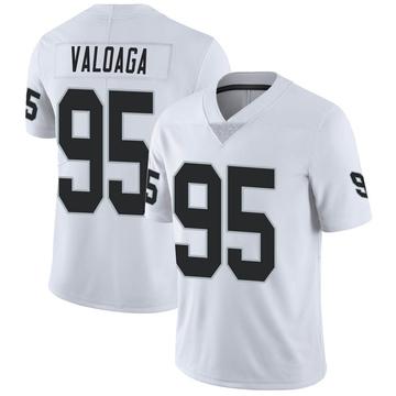 Youth Nike Las Vegas Raiders Jeremiah Valoaga White Vapor Untouchable Jersey - Limited