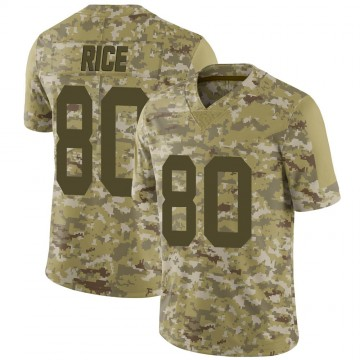 Youth Nike Las Vegas Raiders Jerry Rice Camo 2018 Salute to Service Jersey - Limited