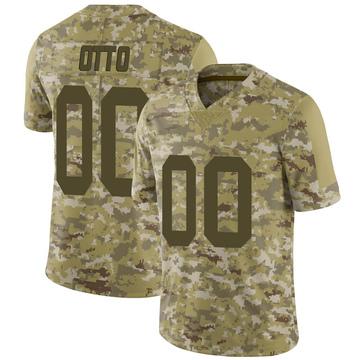 Youth Nike Las Vegas Raiders Jim Otto Camo 2018 Salute to Service Jersey - Limited