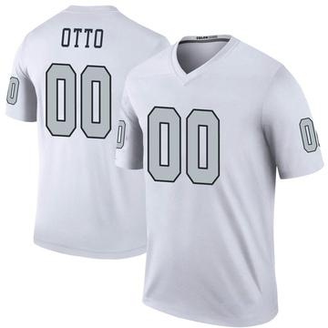 Youth Nike Las Vegas Raiders Jim Otto White Color Rush Jersey - Legend